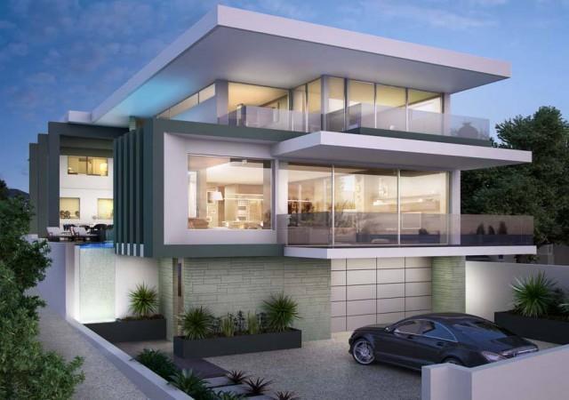 Modern rezidans evler foto galerisi 4 Modern 2 story homes