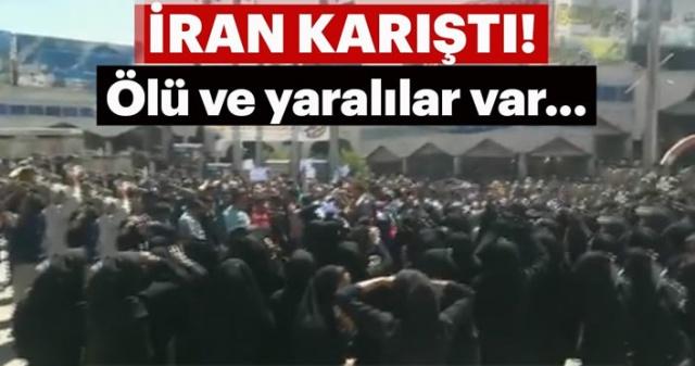 Kazerun kentinin ikiye ayrılmasına karşı çıkan halk sokağa döküldü, polis karakolunun ateşe verildiği olaylarda en az bir kişi yaşamını yitirdi, çok sayıda yaralı var.