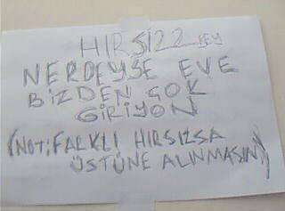 Hırsıza not bırakan ev sahibinden iş sahibine kadar ilginç notlar.