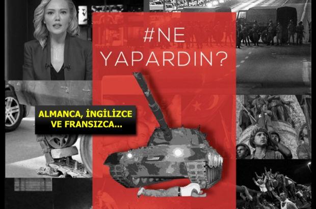 """İstanbul Esnaf ve Sanatkarlar Odaları Birliği (İSTESOB), FETÖ 15 Temmuz darbe girişimini turistlere anlatmak için farklı dillerde """"Siz ne yapardınız?"""" başlıklı afiş hazırladı"""