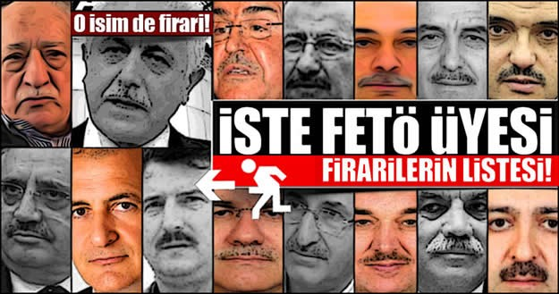 15 Temmuz darbe girişiminin ardından yürütülen soruşturma kapsamında tutuklamalar devam ederken firari isimler de dikkat çekiyor. Aralarında, iş, askeriye, siyaset, medya gibi sektörlerden bir çok isim şu an firari.