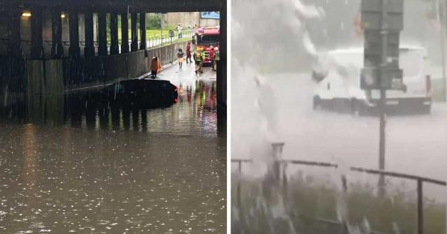 İsveç'te son zamanlarda aşırı yağışlar nedeniyle bazı yerleri su basma görüntüleri artmaya başladı. Bunlardan biri de dün başkent Stockholm'de yaşandı.  Cumartesi öğleden sonra Stockholm'de aşırı yağış nedeniyle bazı yerlerde ciddi sorunlar yaşandı.
