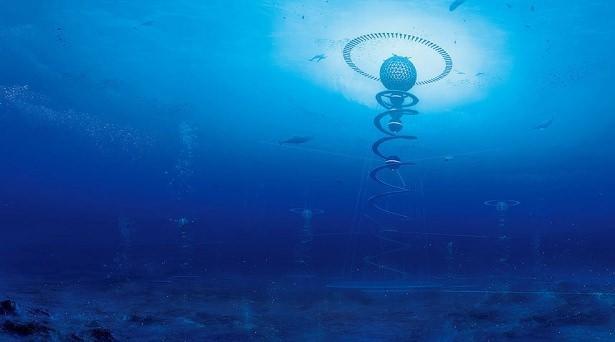 'Mavi Bahçe' ismi verilen küre 500 metrelik bir alanı kapsıyor.  Bir Japon mimarlık firması, yapımı 2035 yılında tamamlanması planlanan dünyanın ilk su altı şehrini geçtiğimiz günlerde tanıttı. Bu küre biçimdeki devasa yapı 4 futbol sahasından daha büyük ve elektrik/su kaynağı denizin 3.2 kilometre derinliğine kadar hizmet verebiliyor.