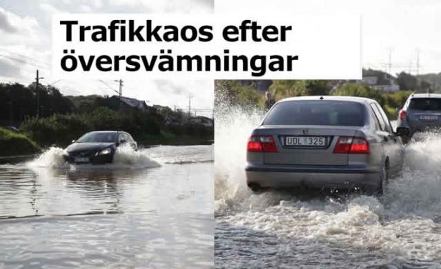 İsveç'te aşırı yağışlar nedeniyle batı kesiminde sel taşkınları ulaşımı olumsuz etkiledi.