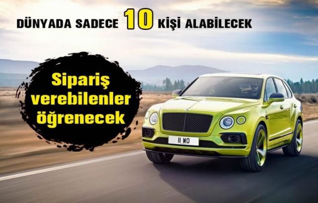 ABD'deki Pikes Peak tırmanışını kendi sınıfında kırdığı rekorla tamamlayan limon sarısı Bentley Bentayga'nın dünyada sadece 10 özel müşteri için üretilmesine karar verildi. 600 beygirlik W12 motorlu Pikes Peak Bentayga'ya sahip olmak isteyen koleksiyonerler ağustos ayının sonundan itibaren sipariş verebilecekler. Standart versiyonu Avrupa'da 208 bin, Türkiye'de ise 530 bin Euro'dan başlayan fiyatlarla satılan ultra lüks SUV'un bu limitli versiyonun fiyatını ise sadece sipariş verenler öğrenebilecek