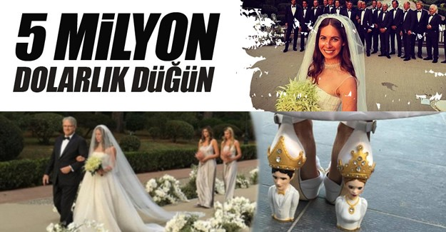 Dünyanın en pahalı düğünlerinden biri 5 Milyon dolar harcandı