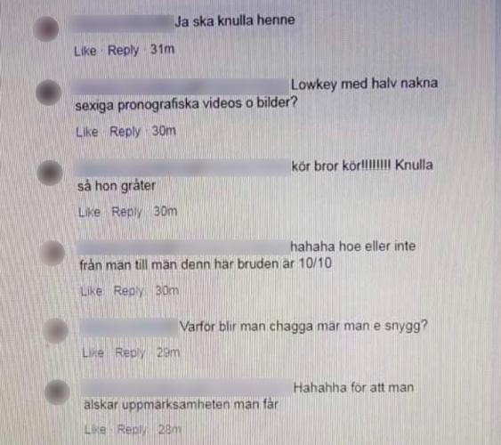 İsveç genelinde son günlered çeşitli nedenlerden ötürü intikam almak isteyen kızların takıldığı birkaç gizli Facebook grubu başlatıldı.