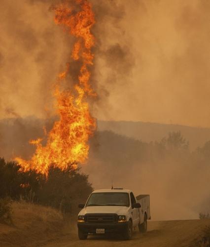 California'da yangınla mücadele çalışmalarına 14 binden fazla itfaiyeci katılıyor.