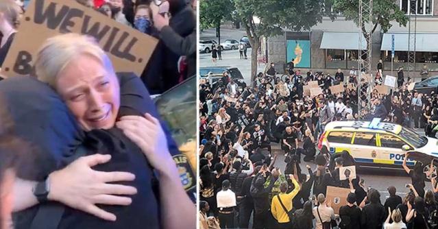 Başkent Stockholm'de gösteriler sırasında, katılımcıları kışkırtmak için provakatif eylemlerde bulunduğu belirtilen iki kişi gözaltına alındığı doğrulandı.  Başkent Stockholm'deki gösterilerde ilginç görüntüler de medyada geniş yer bulmaya devam ediyor.