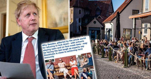 """İsveç'te vaka sayıları ve can kayıplarının hızla düşmesiyle birlikte izlediği yolla ilgili negatif bakış açıları kısa süre içinde tersine dönmeye başladı.  Lund merkezli profesör İngiliz epidemiyolog Paul Franks, """"İsveç tamamen tesadüfen doğru yolu seçti"""" yorumunda bulundu.  İsveç'in koronavirüste izlediği yol, İngiliz medyasında uzun süredir sıcak bir tartışma konusu olarak sık sık yer alıyor ve izlenen yolla ilgili baskın resim olumsuzdu. Ancak son günlerde farklı bakılmaya başlandı.  Daily Mail bugünkü çevrimiçi baskısında """"İsveçliler sonunda gülüyor olabilir"""" diye yazdı.  Daily Mail muhabiri, İsveçli ve İngiliz araştırmacılarla çeşitli röportajlar içeren uzun ve araştırıcı makalede, İsveç'in salgınla mücadelede fazla kısıtlama almamasıyla ilgili değerlendirmeler farklı yöne gidiyor.  İngiltere'nin yüksek ölü sayısı ve birçok farklı hükümet duyurusu ile İsveç'in taktiklerinin sonuçta daha iyi olup olmadığı sorusu ortaya çıkıyor.  Makale, birçok Avrupa ülkesinden farklı olarak Stockholm'ün muhtemelen sürü bağışıklığına giden yolda en olumlu sonuçlara ulaşabileceğine işaret ediyor."""