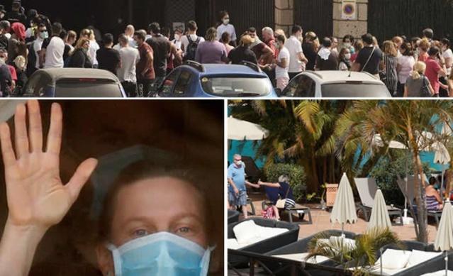 İspanya Tenerife'de bir tatilcide corona virüs görülmesinin ardından karantinaya alınan otelin içi görüntülendi. Tatilciler bir yandan karantina koşullarına ayak uydurmaya çalışırken bir yandan da günlük rutinlerine devam etmeye çalışıyor