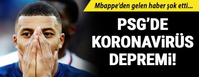 PSG'nin 20 yaşındaki yıldızı Kylian Mbappe'ye koronavirüs şüphesi nedeniyle test yapıldı.