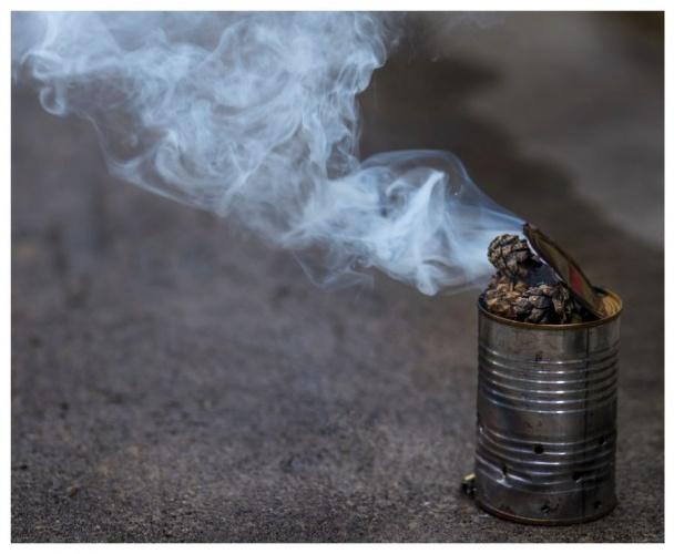 8. Sivrisinekler duman sevmez  Evinizin çevresinde çok sivrisinek varsa ve bu sizi rahatsız ediyorsa, biraz çam kozasını küçük bir kutu içinde yakın sivrisinekler mümkün olan en uzak yere kadar kaçarlar.