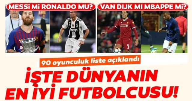 """2019-2020 sezonunda Avrupa liglerinin devre arasına doğru yaklaşılırken ESPN 9 farklı pozisyon için dünyanın en iyi futbolcularının sıralamasını yayımladı. Kaleci, sağ bek, stoper, sol bek, merkez orta saha, ofansif orta saha, kanat, forvet ve santrfor pozisyonlarında dünyanın en iyi oyuncularının sıralandığı listelerde Virgil Van Dijk, Lionel Messi, Cristiano Ronaldo, Kylian Mbappe, Robert Lewandowski gibi oyuncuların bulunduğu sıralar belli oldu. İşte ESPN'in listesine göre 9 farklı pozisyonda dünyanın en iyi futbolcuları...  2018-2019 sezonu için FIFA tarafından verilen """"Yılın En İyi Futbolcusu"""" ödülünü Liverpool'un Hollandalı yıldızı Virgil Van Dijk kazanırken Ballon D'or'un sahibi ise Barcelona'nın Arjantinli oyuncusu Lionel Messi oldu. Bu iki ödülün farklı isimlere gitmesi tartışmaları körüklerken ESPN, 9 farklı pozisyonda dünyanın en iyi futbolcularının sıralamasını yayımladı. Cristiano Ronaldo, Kylian Mbappe, Alisson, Robert Lewandowski, Sergio Agüero, Messi, Van Dijk gibi isimlerin yer aldığı listede her bir pozisyona göre oyuncuların sıralaması yapıldı. İşte 9 farklı pozisyonda dünyanın en iyi oyuncuları..."""