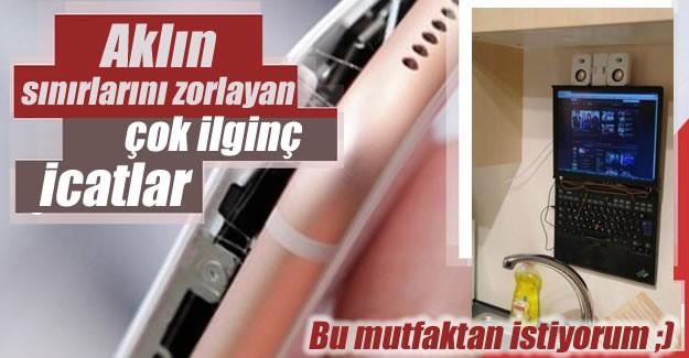 İşte çoğunluğu Türkiye'den olmak üzere sosyal medyaya düşen ilginç icatlar.
