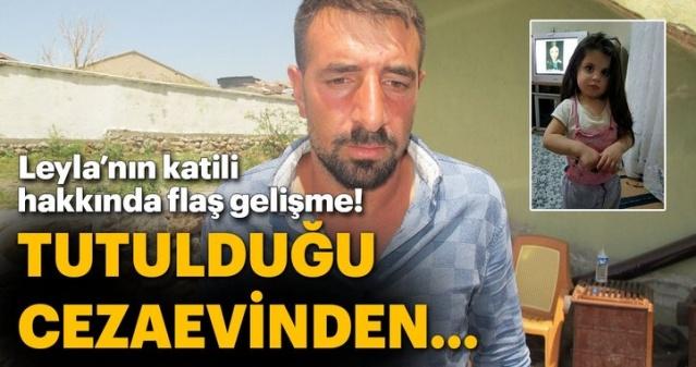 Ağrı'da kaybolduktan 18 gün sonra cesedi bulunan 3 yaşındaki Leyla Aydemir'in ölümüne ilişkin tutuklanan baba Nihat Aydemir'in amcasının oğlu Mehmet Aydemir, güvenlik gerekçesiyle Elazığ'daki cezaevine sevk edildi