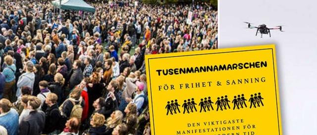 """Stockholm'deki Medborgarplatsen'de büyük bir """"antikorona"""" gösterisi düzenleniyor.  Koronavirüs salgını kısıtlamalarına karşı harekete geçen İsveç'teki bazı yapılar protesto düzenleme kararı aldı.  Edinilen bilgilere göre, yüzlerce kişinin katıldığı eylemde yürüyüş ve konuşmalar yapılıyor."""