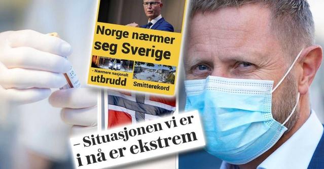 Norveç'te korona enfeksiyonu artıyor ve Østfold'da 1.100 kişi karantina altına alındı.  Aynı zamanda FHI, hastalığı geçirdiği tahmin edilen Norveçlilerin sayısı ile rakamı yükseltiyor.  Muhtemelen önceden düşünülenden yüzde 60 daha fazla olduğu tahmin ediliyor.  Geçen haftaya kadar sağlık yetkilileri, 34 bi 600 ila 43 bin 500 Norveçlinin koronavirüs ile enfekte olduğunu tahminini açıkladı.  Ancak Cumartesi günü, Norveç'in Halk Sağlığı Dairesi ile eşdeğeri olan Ulusal Halk Sağlığı Enstitüsü yeni bilgiler yayınladı. Otoritenin yeni tahminine göre, bu yüzde 60'lık bir artışla 55 bin ile 73 bin arasında.