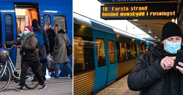 İsveç'te bugünden itibaren, yoğun saatlerde toplu taşıma araçlarında maske takma önerisi hayata geçiriliyor.  Ancak doğru tipte maske koruyucusuna sahip olmak ve onu doğru kullanmak önemlidir.  Her şeyden önce: Parmaklarınızla yüzünüzden çıkarın.