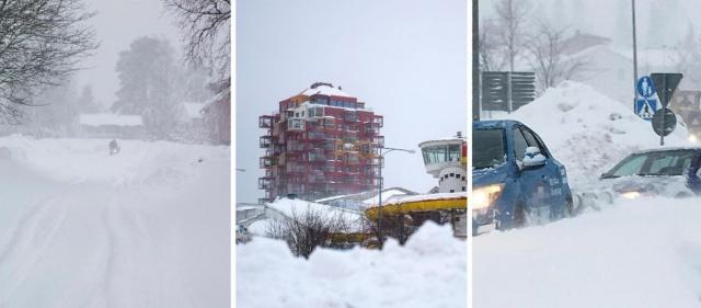 İsveç'te son günlerde etkili olan kar yağışı ve şiddetli rüzgar elektrik kesintilerine neden oldu.  Västernorrland'de elektrik kesintisi meydana geldi.  Eon tarafından yapılan açıklamaya göre, Västernorrland'da yaklaşık 5 bin hanede elektrik kesintisi meydana geldi.