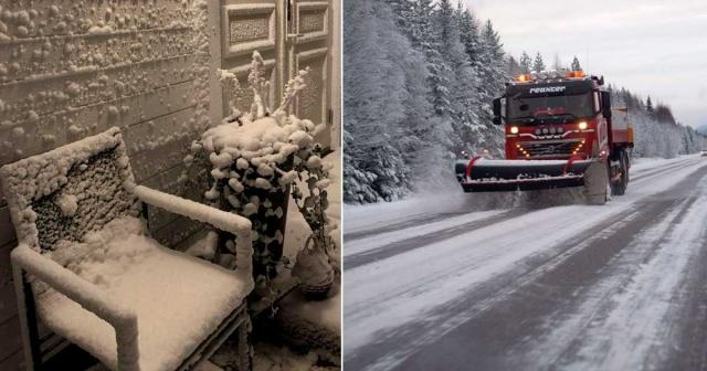 İsveç'te hafta sonu aşırı kar yağışı nedeniyle Pazartesi sabahı trafik felç oldu.  Ulaşımda kaosa neden olan kar yağışı nedeniyle kamyonlar haraket edemedi ve SMHI, Västerbotten'de 1. sınıf bir uyarı yayınladı.  İsveç Ulaştırma İdaresi, İsveç'in neredeyse tamamında zorlu yol koşulları konusunda uyarıda bulundu.  SMHI, Pazartesi sabahı yedi bölge için yeni uyarılar yayınladı.