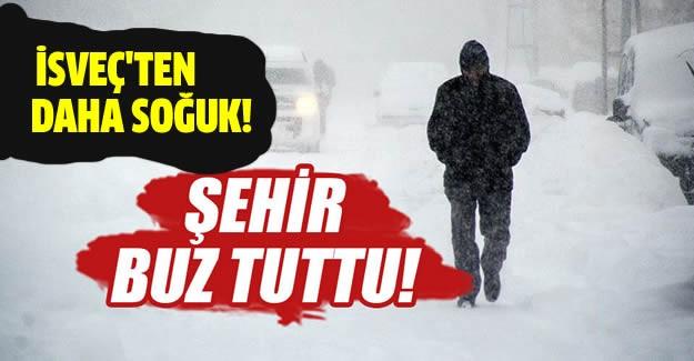 Doğu Anadolu Bölgesi'nde en düşük hava sıcaklığı sıfırın altında 31 derece ile Ağrı'da ölçüldü.