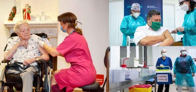 Avrupa Birliği'nde koronavirüs aşılarının yapılmasına koordineli bir biçimde pazar sabahı resmen başlandı. Ancak Almanya, Macaristan ve Slovakya'da ilk aşılar, teslimattan hemen sonra cumartesi günü yapılmıştı.