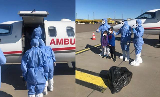 İsveç'in Malmö şehrinde koronavirüs hastalığı nedeniyle İsveç'teki hastanelerin tedavisini kabul etmediği Türk vatandaşı Emrullah Gülüşken vatandaşımız için Türkiye'den ambulans uçak Malmö'ye ulaştı.