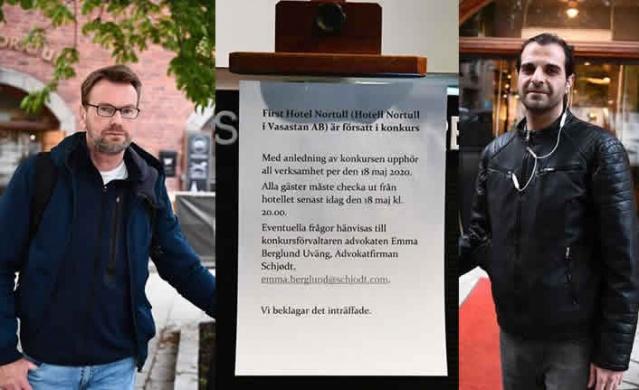 İsveç'te ekonomik krizin açtığı yaralar her geçen gün daha fazla gün yüzüne çıkıyor.  Son iki ayda 774 otelin iflas bildirdiği İsveç'te iflas bildiren otellerden biri olan First Hotel Norrtull otelde kalanlara not bırakarak, dört saat içinde oteli terk etmelerini istedi.