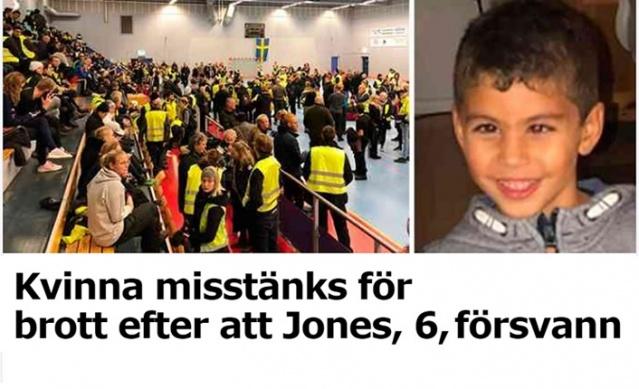 İsveç'in Färjestaden bölgesinde dün kaybolan 6 yaşındaki Jones isimli çocuğun bulunmasıyla ilgili yüzlerce gönüllünün aramalara katılımıyla sürüyor.