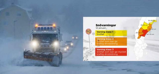 Tarihin en sıcak yılını (2020) geride bırakan İsveç'te yoğun kar yağışı ve soğuk hava dalgası devam ediyor.  Şiddetli kar fırtınası, İsveç'in kuzey kesimlerinde sürekli olarak şiddetleniyor. Geçtiğimiz hafta içinde başlayan kar yağışı Çarşamba gününden önceki gece 03:00'e kadar, bazı yerlerde 25 santimetre kar yağmıştı.