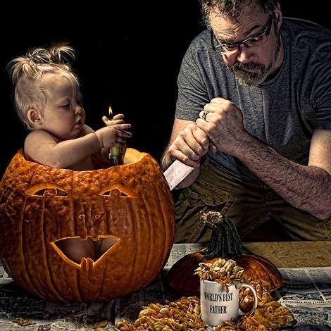 İşte baba ve çocukların ilginç resimleri...