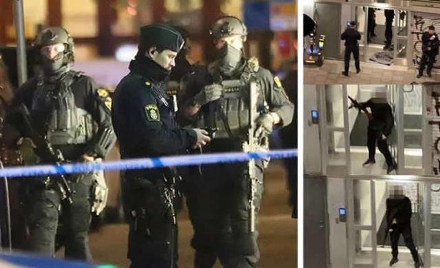 Stockholm'deki Södermalm'da ciddi bir silah suçu ve ciddi yasadışı tehditten şüphelenilen bir kişi polisin düzenlediği operasyonla yakalandı.