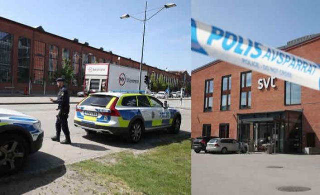 İsveç devlet televizyonu SVT'nin Malmö'deki binasına  gönderilen şüpheli nesne üzerine çok sayıda polis ekibi sevk edildi.