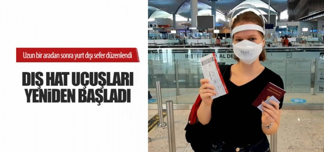 İstanbul Havalimanı'nda yaklaşık 2 ay önce yeni tip koronavirüs (Kovid-19) nedeniyle durdurulan tarifeli yurt dışı uçuşları yeniden başladı. İstanbul Havalimanı'ndan dış hatlarda bugün 08.20'de gerçekleştirilen TK1523 İstanbul-Düseldorf ve TK 1980 İstanbul-Londra seferlerinin ardından, 08.25'te TK-1951 İstanbul-Amsterdam, 08.30'da 1587 İstanbul-Frankfurt, 08.50'de TK 1721 İstanbul-Berlin uçuşları yapıldı  İstanbul Havalimanı'nda yaklaşık 2 ay önce yeni tip koronavirüs (Kovid-19) nedeniyle durdurulan tarifeli yurt dışı uçuşları yeniden başladı.  Yeni normalleşme adımları kapsamında 1 Haziran'da başlayan iç hat uçuşlarının ardından İstanbul Havalimanı'nda yurt dışı seferleri de belirli ülkeleri kapsayacak şekilde kademeli olarak yeniden açıldı. Bu kapsamda Türk Hava Yolları, Almanya, İngiltere ve Hollanda'ya İstanbul Havalimanı'ndan tarifeli seferler başlattı.