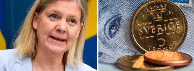 """Hükümet, İsveç ekonomisi için büyüme tahminini keskin bir şekilde yükseltti. GSYİH'nın bu yıl yüzde 4,7 oranında büyümesi bekleniyor.  Maliye Bakanı Magdalena Andersson, ekonomide net bir aydınlanma görüyoruz ancak toparlanmanın çok kırılgan olduğunu söyledi.  Andersson, """"Ayrıca, Riksdag'da siyasi bir kriz var ve bu tahminin güçlendirilmesine katkıda bulunmuyor"""" dedi."""