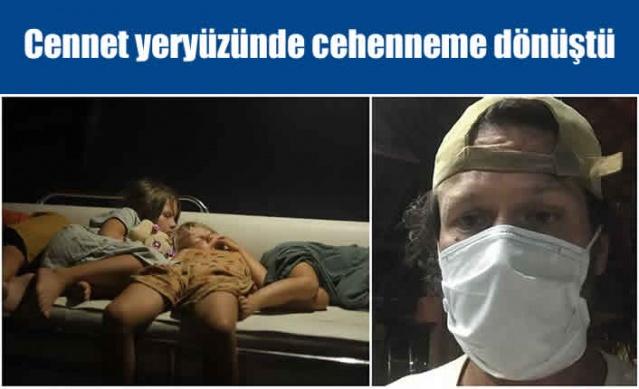 Tatil için gittikleri Maldivler'de koronavirüs nedeniyle mahsur kalan Holmqvist ailesi büyük sıkıntılar yaşadıklarını aktardı.
