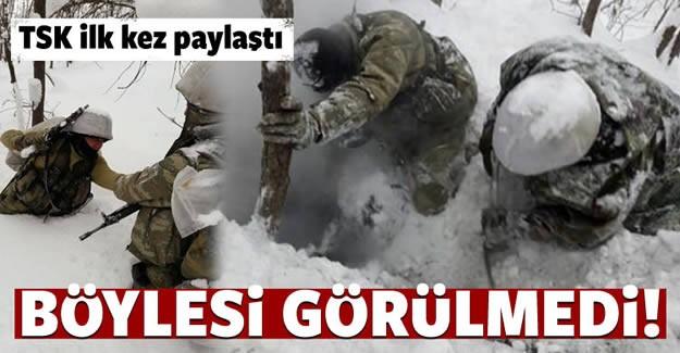 Türk Silahlı Kuvvetlerince (TSK), Bitlis'in Tatvan ilçesinde gerçekleştirilen operasyonda 4 ruhsatsız av tüfeği, sığınaklar içerisinde yaşam malzemeleri ve örgütsel posterler ele geçirildi.