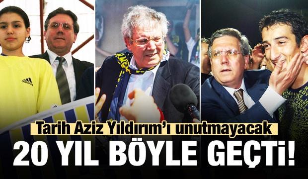 Fenerbahçe kongresinde başkanlığı Ali Koç'a kaptıran Aziz Yıldırım, 20 yıllık başkanlık dönemini böyle geçirdi.