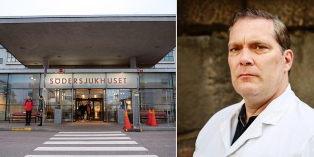 """Södersjukhuset'te cerrah ve Sjukhusläkarna Stockholm'ün başkanı Anders Fischer, ancak Paskalya sırasında covid departmanı ile ilgili durumu """"tuhaf"""" olarak nitelendirdi.  Bir cerrah olarak enfeksiyon kliniğine müdahale etmem ve destek vermem gerekeceğini, tüm kaynaklarla ne kadar kullanmak gerektiğine dair bilgiler verdi."""