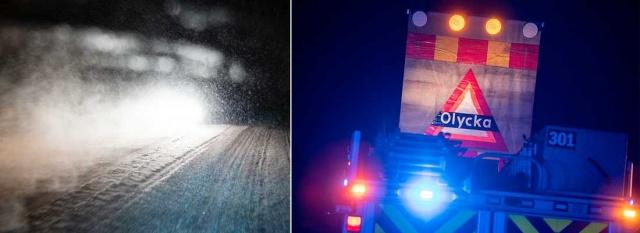 İsveç'te kış şartlarının iyice kendini hissettirmesiyle birlikte uyarılarda bulunan SMHI, gizli buzlanma ve kar yağışı nedeniyle sürücülerin dikkatsizliği kazalara neden oldu.  Yurdun çeşitli noktalarında kayma nedeniyle bazı kazalar yaşandı.
