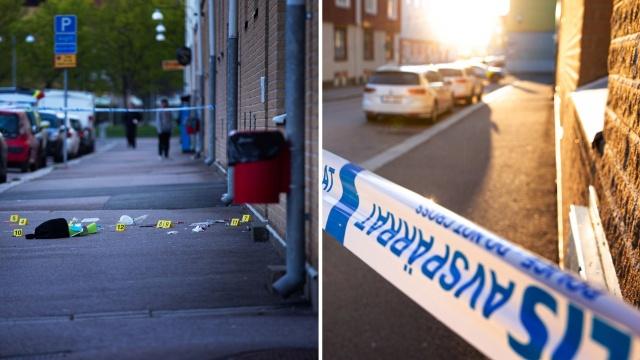 Göteborg şehrindeki Gamlestaden'de öldürülen 33 yaşındaki adamın bölgedeki bir çete lideri olduğu ve katıldığı bir doğum günü partisinden dönerken yolda vurularak öldürüldü denildi.