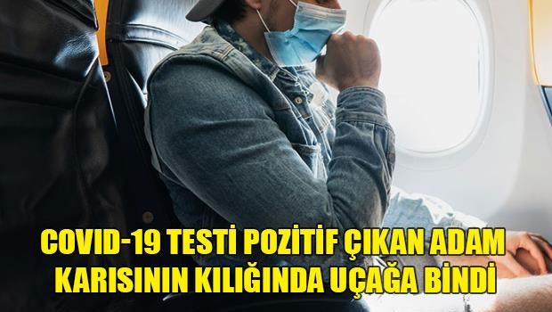 Endonezya'da koronavirüs testi pozitif olan bir adam kendini karısı gibi göstererek uçağa bindi. Ancak hosteslerin dikkati sayesinde havada yakalandı. COVID-19 testi pozitif olan Endonezyalı D.W, uçakla yolculuk yapmak için ilginç bir yol izledi.  Yüzünün tamamını kaplayan bir peçeyle uçağa binen adam, yanına karısına ait negatif COVID-19 test sonucunu ve pasaportunu aldı.  Uçuşun ortasında normal kıyafetlerini giyen adam bunu fark eden bir hostesin alarma geçmesiyle yakalandı.