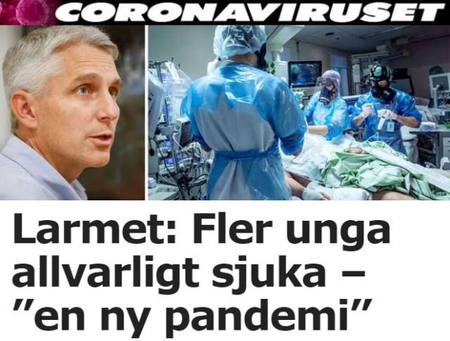 Uzmanlar, covid-19'da daha fazla genç insanın ciddi şekilde hastalandığına ve durumun çok endişe verici olduğuna inanıyor.  Durum, İsveç'te yayılan yeni virüs mutasyonlarıyla bağlantılı.  Durum çok ciddi diyen Üniversite Hastanesi enfeksiyon kliniğinin operasyon müdürü Fredrik Sund, yeni bir virüsle karşı karşıya olduğumuza inanıyorum ifadeleri kullandı.