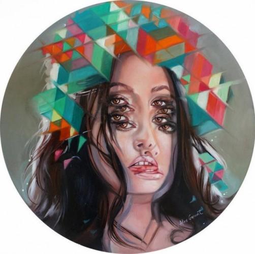 Ressam Alec Garant'ın yağlı boya resimleri insanda sarhoşluk hissi yaratıyor.