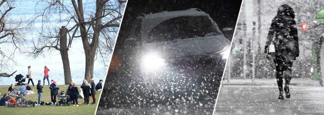 SMHI özellikle İsveç'in güneyinde etkili kar yağışı beklendiğini duyurdu.  İsveç Ulaştırma İdaresi Paskalya trafiğinde şeritleri kapattı  Güney İsveç için soğuk hava dalgası ve kar yağışı yolda.  Paskalya'nın ikinci günü Götaland ve doğu Svealand'da bazı yerlerde etkili olması beklenen kar yağışı sonrasında sürücülerin dikkatli olması gerektiği bildirildi.  SMHI meteoroloji uzmanı Sofia Söderberg, ılıman geçen havanın soğuk hava dalgasıyla normalden daha soğuk olacağını aktardı.