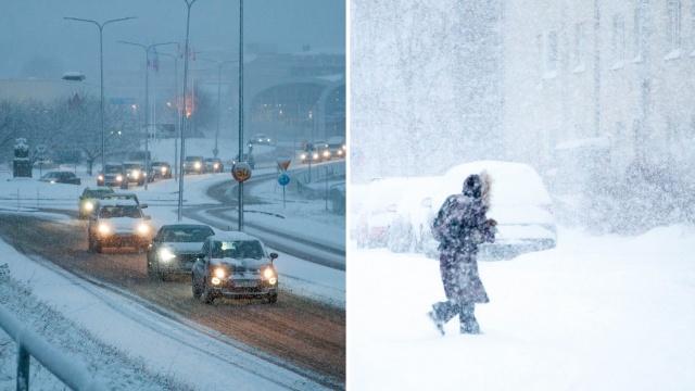 """Kuzey Kutbu'ndan gelen dondurucu soğuklar ve kar yağışı konusunda SMHI sınıf 1 uyarıyor: """"Köylerde yoğun kar olacak""""  Sıcakların rekor seviyeye ulaştığı 2020'nin ardından, yeni yıla soğuk bir başlangıç olacak.  Kuzey Kutbu'ndan gelen soğuk hava dalgası İsveç'e Ocak ayı boyunca sert bir hava durumu yaşatması bekleniyor."""