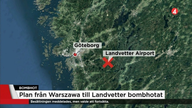 Deniz ve Hava Kurtarma Merkezi kurtarma lideri Anders Lännholm, Polonya'daki havayolu şirketinin bomba tehdidini aldığını ve Landvetter'e giden uçakta bomba olabileceği şüphesi üzerine durumu mürettebata bildirdiği ve bu yönde tedbir alınmasının önemli olduğu uyarısı üzerine birimler harekete geçti ifadeleri kullandı.  Uçak İsveç hava sahasına girdiğinde yakından izlendi.  Uçağın askeri radar istasyonları tarafından izlendiğini ve Kristianstad'da beklenmedik duruma karşı müdahale helikopterlerinin hazır bekletildiği aktarıldı.