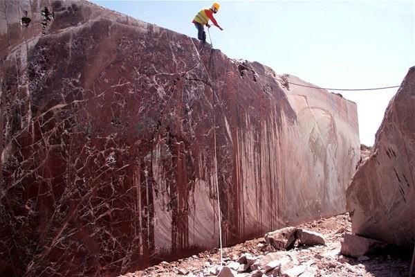 Alacakaya Mermer ve Maden AŞ Hammadde Üretim Müdürü Abidin Gümüş, AA  muhabirine yaptığı açıklamada, 1984'ten beri üretimi gerçekleştirilen vişne  mermerinin dünyaya sadece Elazığ'dan ihraç edildiğini söyledi.