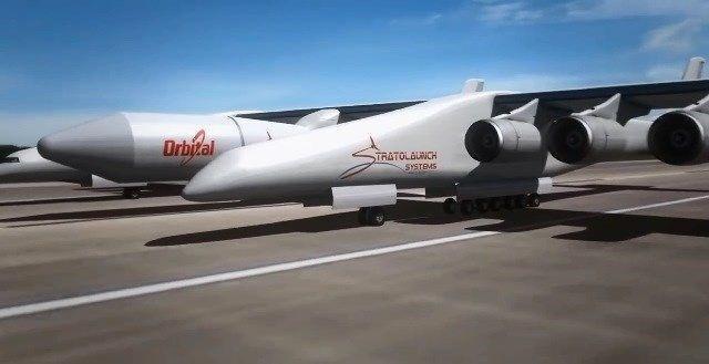 Dev uçak 28 tekerden destek alıyor.